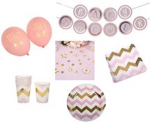 Babyshower Theme Package - Pattern Works Rosa för 8 pers.