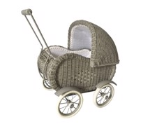 Canvas cart wickerwork - Magni